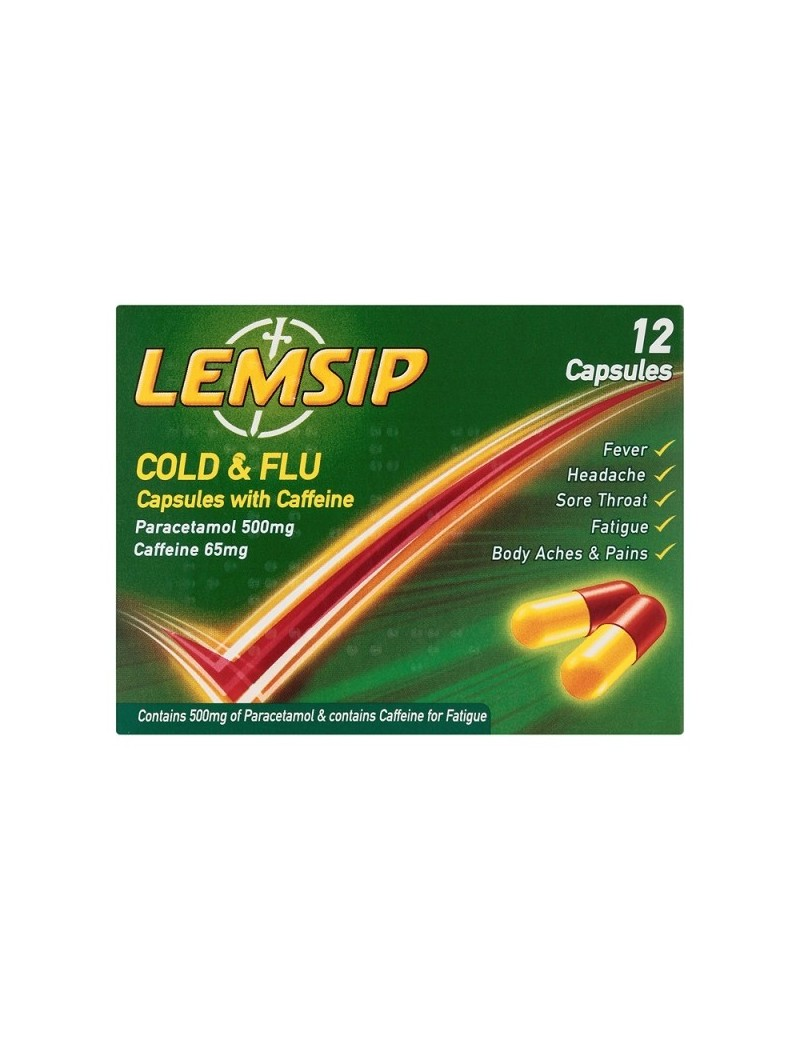 Lemsip Cold & Flu Caps with Caffine