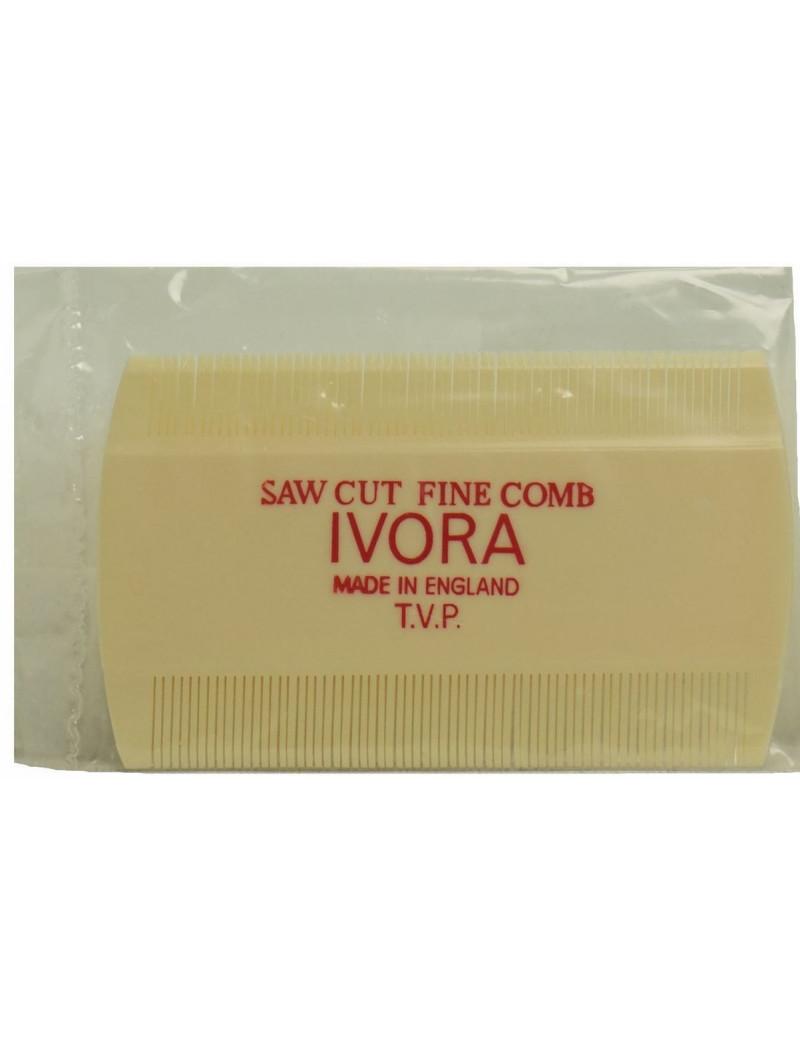 Head Lice Comb-Saw Cut Fine Comb IVORA