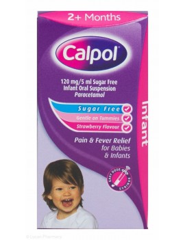 Calpol Infant Oral Suspension Sugar Free Syringe