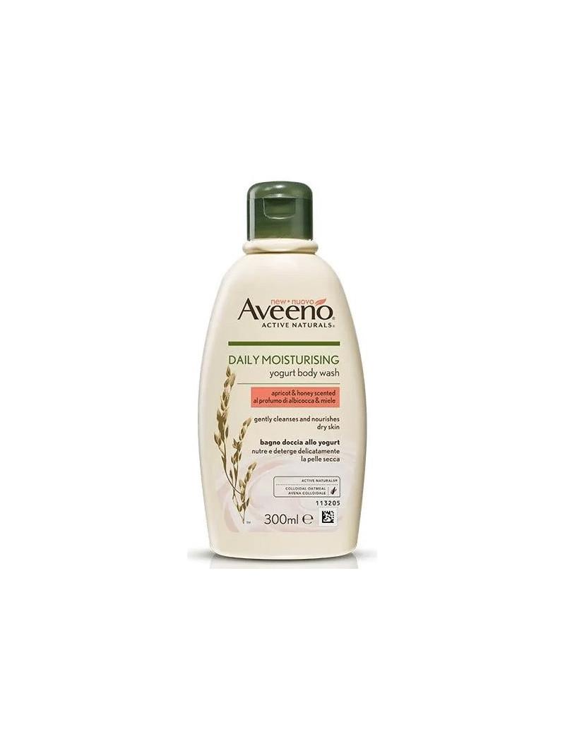 Aveeno daily moisturising yogurt body wash apricot and honey scented.