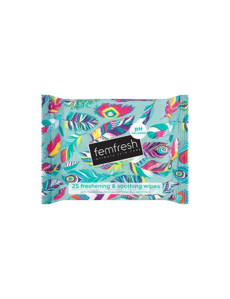 Femfresh freshening & soothing wipes