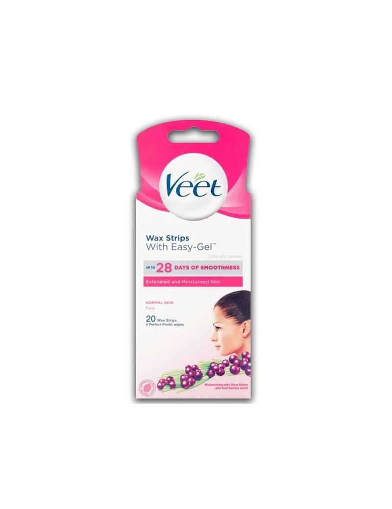 Veet Wax Strips With Easy-Gel For Face
