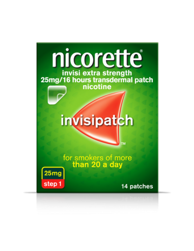 Nicorette Invisi Extra Strength 25mg Patch