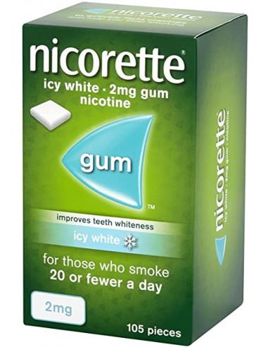 Nicorette 2mgs Icy White Gum