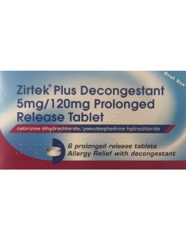 Zirtek Plus Decongestant