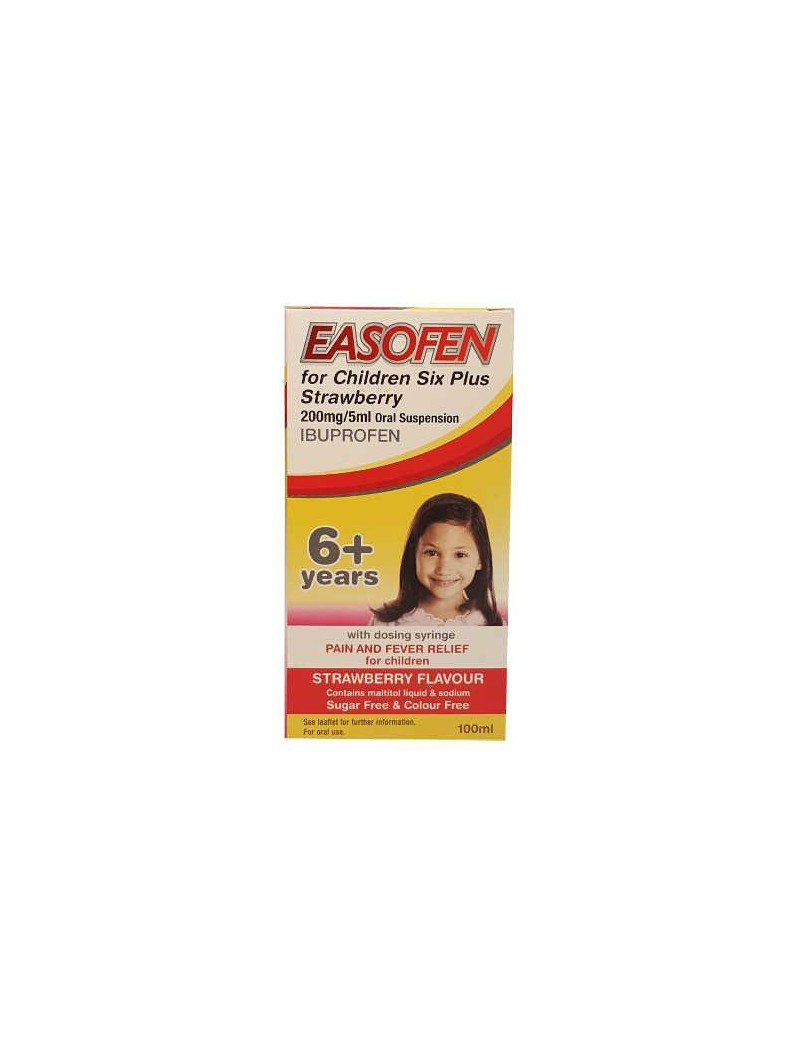 Easofen for Children 6 Years+ Strawberry