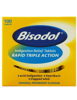 Bisodol Antacid Chewable Peppermint