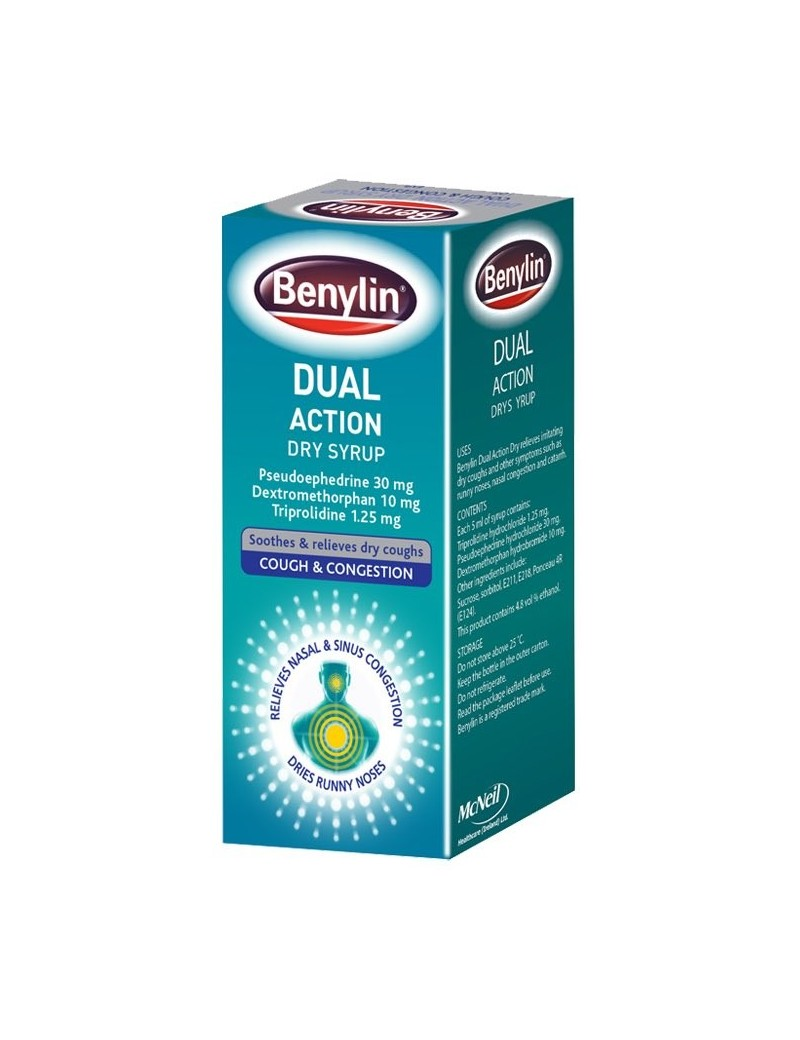 Benylin Dual Action Dry Syrup